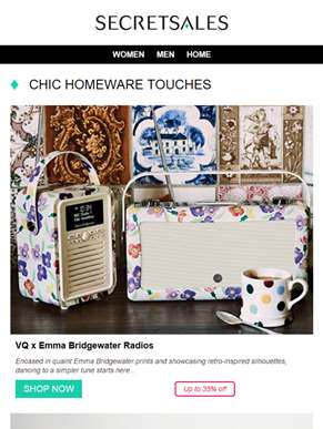 Add a Touch of Chic to Your Home with: VQ x Emma Bridgewater Radios, Parks Candles & Diffusers and B