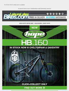 NEW HOPE HB160 BIKE - IN STOCK NOW! ????