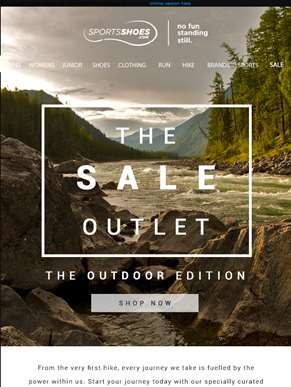 The Outdoor Edition | 40-80% Off | The Sale Outlet