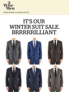 Winter Suit Sale. Online & In Store. All Suits $400 or less.