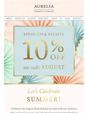 An Exclusive Subscriber Offer to Celebrate the August Bank Holiday!