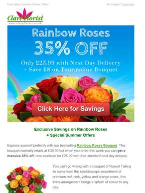 Rainbow Roses: Get 35% Off with Next Day Delivery ? Latest Flower Offers