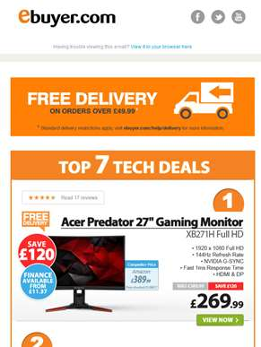 Hi  - Save £120 on Acer Predator 27