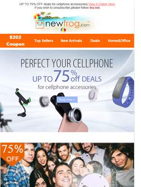 Cheap cellphone accessories,up to 75% OFF--Newfrog