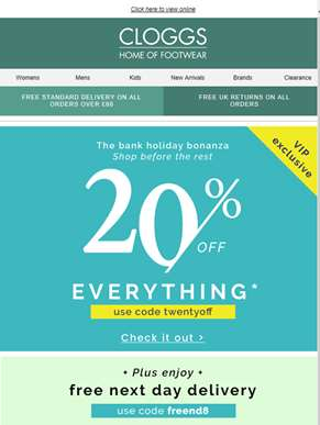 20% Off Everything + Free Delivery = YAY!