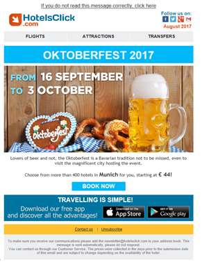 Are you ready for Oktoberfest? Save on your hotel!