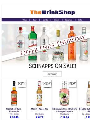 All Schnapps On Special Offer!