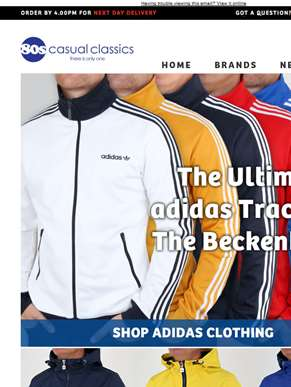 Exciting New Arrivals | Adidas | Jackets | Track Tops In Time For Bank Holiday