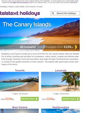 Incredible Canaries | All Inc. escapes fr £239pp