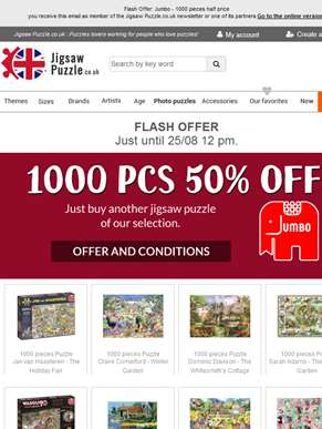 Flash Offer: Jumbo - 1000 pieces half price