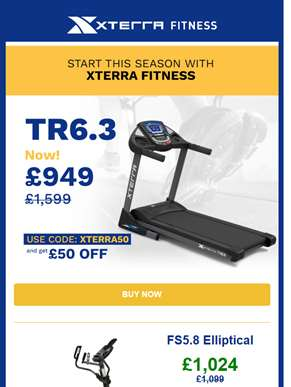 Start this season with Xterra Fitness' special prices! ??