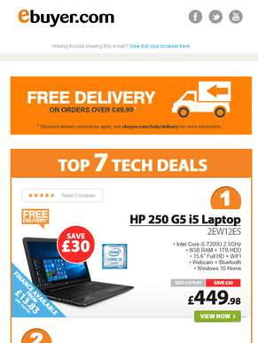 Hi  - HP 250 G5 i5 Laptop - Now Under £450