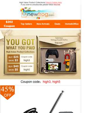 $8 Coupons For High Value Product Collections--Newfrog