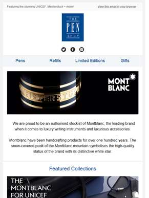 Showcasing Montblanc - the ultimate brand for pure writing luxury!