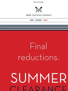 Final reductions. Starts now.