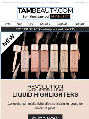 NEW Makeup Revolution Liquid Highlighters