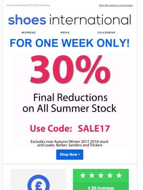 Final Reductions 30% Off Everything