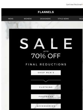 Final Reductions | Up To 70% Off Men's Sale