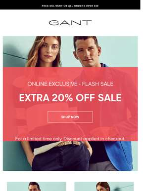 Online Flash Sale | Extra 20% Off Sale | Limited Time Only