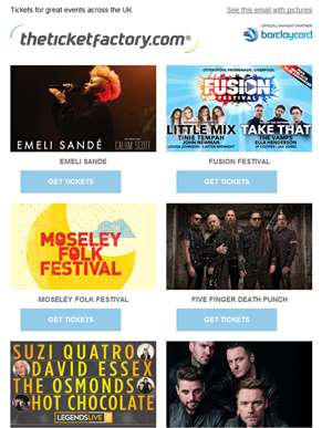 Emeli Sande, Fusion Festival, Moseley Folk Festival, Five Finger Death Punch & much more…