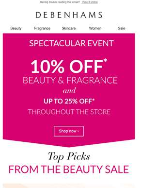10% off beauty, now's the time to stock up ??
