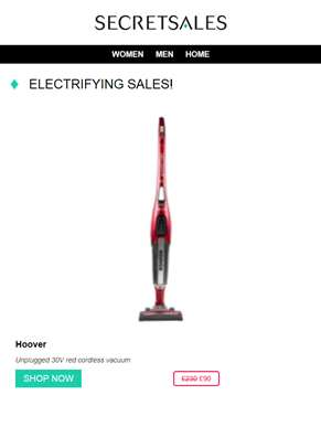 Electrifying Sales: Hoover Cordless Vacuum, Fish-Eye Secuirty Camera and Sonos Speakers