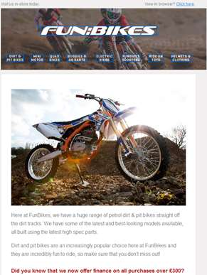 Get Dirty! Shop Our Huge Range of Dirt & Pit Bikes Online at Funbikes