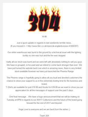 304 | ??Website is back Live - Full Statement inside??