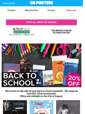 20% off all accessories in our Back to School collection!
