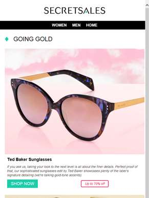 Be Bold, Go Gold: Ted Baker Sunglasses, Michael Kors Watches and Zoë Ayla Make-up Brushes