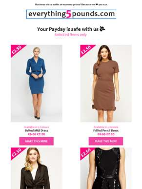HOLY SALE! ?? Our £2.50 range is here to protect your pay cheque