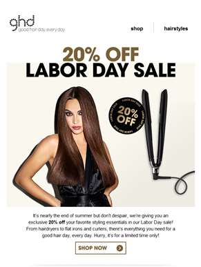 Get 20% off in the labor day sale! ????