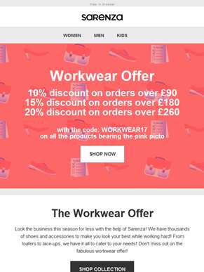 Workwear offer! Up to 20% discount!