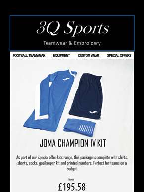 Kit your whole squad out in the Joma Champion IV kit from only £195.58