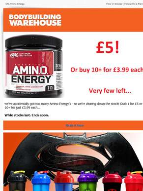 Amino Energy £3.99 - ends midnight