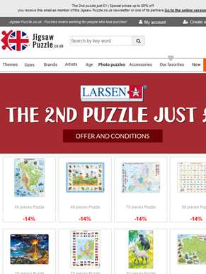 The 2nd puzzle just £1 | Special prices up to 80% off