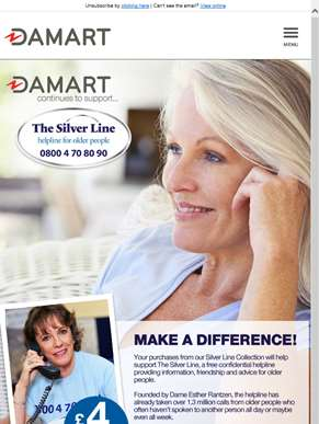 Damart continues to support The Silver Line