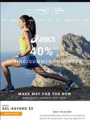 Make Way For The New | 40% Off ASICS Spring Summer Footwear | New Range launches Next Week