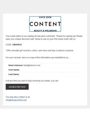 Content News & Updates: Subscription Confirmed