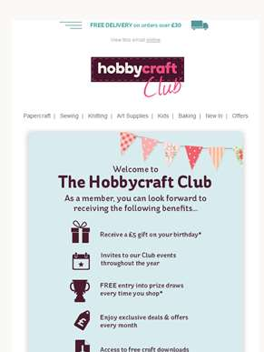 Welcome to the Hobbycraft Club