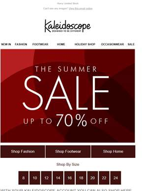 Starts Today! Up To 70% Off Summer Sale