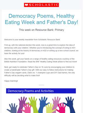 Democracy poems, Healthy Eating Week and Father's Day!