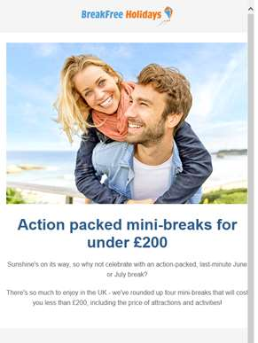 Action packed mini-breaks for under £200