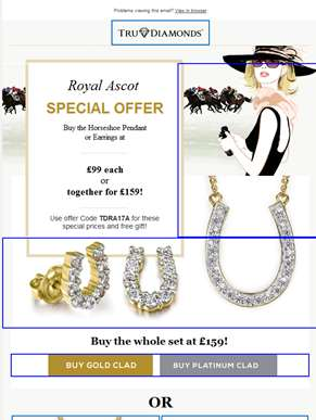 Royal Ascots Offer - Buy Pendant and Get the Earrings Free!