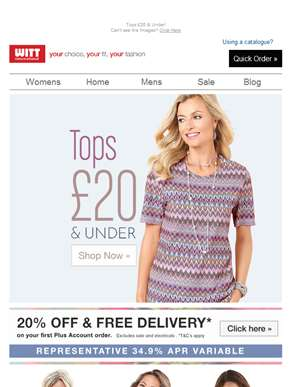 Grab yourself a bargain with Tops £20 & Under
