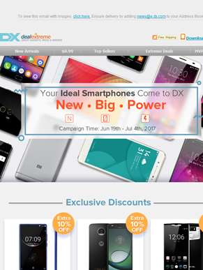 Pick Your Ideal Smartphone -- New • Big • Power   Up to $60 OFF!