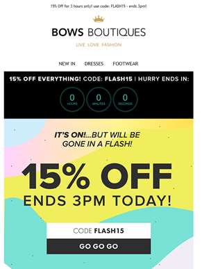 ? 15% OFF | Feelin' Flash! ?