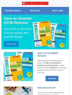 Save 25% on GCSE guides - perfect for summer revision!