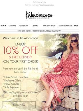 Welcome! Here's Your 10% Off & Free Delivery
