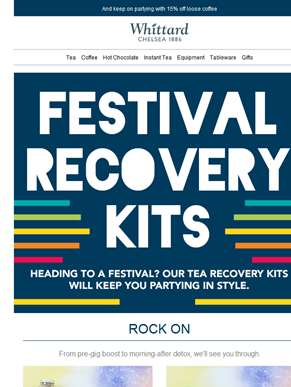 Check out our festival recovery kits